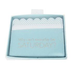 Handbags - Why Can't Everyday be Saturday Blue Wallet Case